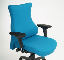 blue bad back office chair